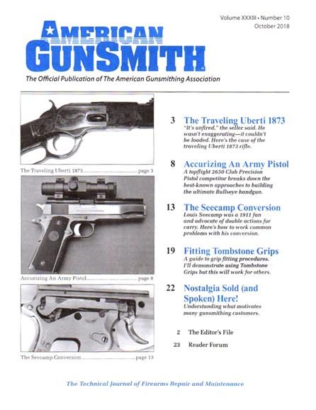 American Gunsmith Cover - 10/1/2018