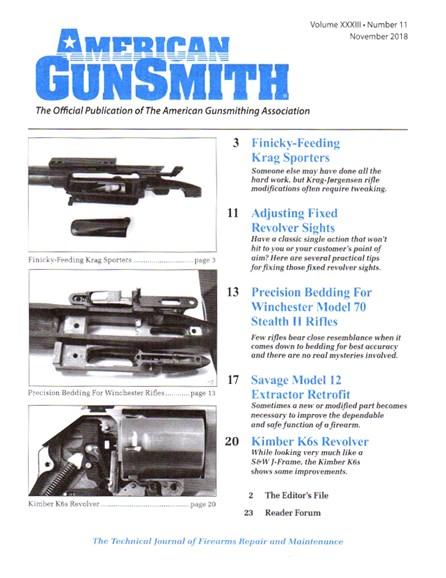 American Gunsmith Cover - 11/1/2018
