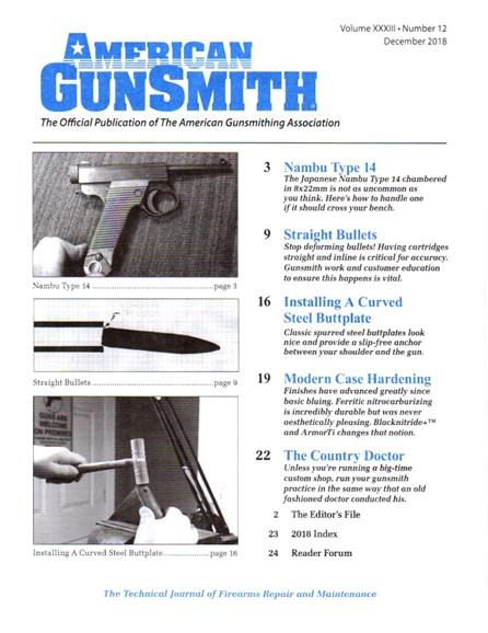 American Gunsmith Cover - 12/1/2018