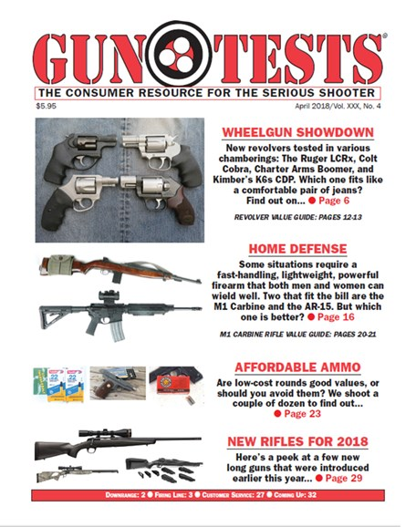 Gun Tests Cover - 4/1/2018