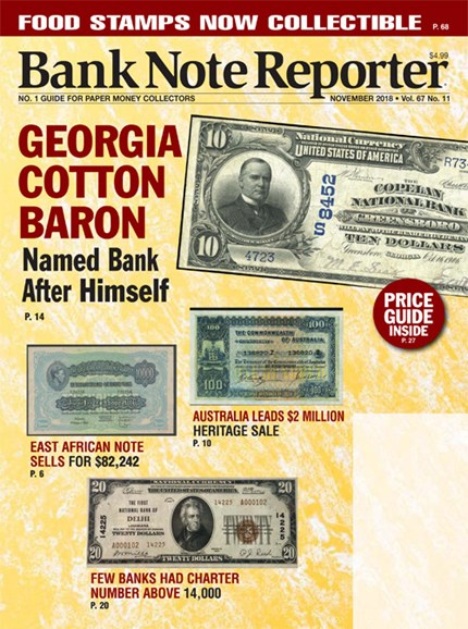 Bank Note Reporter Cover - 11/1/2018