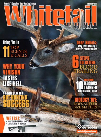 Whitetail Journal Cover - 12/1/2017