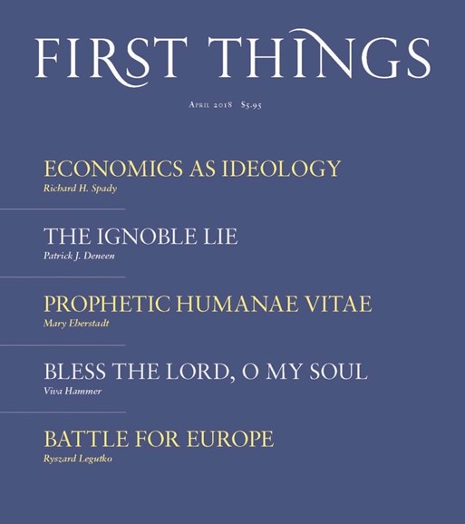 First Things Cover - 4/1/2018