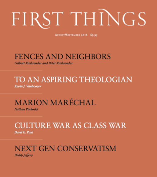 First Things Cover - 8/1/2018