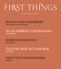 First Things Magazine | 8/2018 Cover