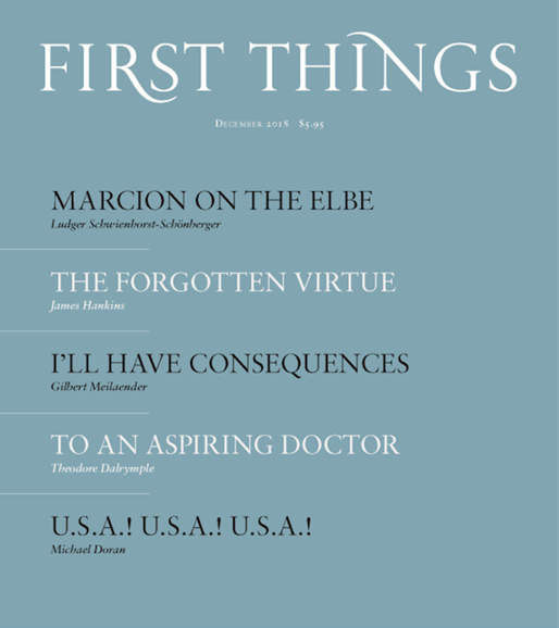First Things Cover - 12/1/2018