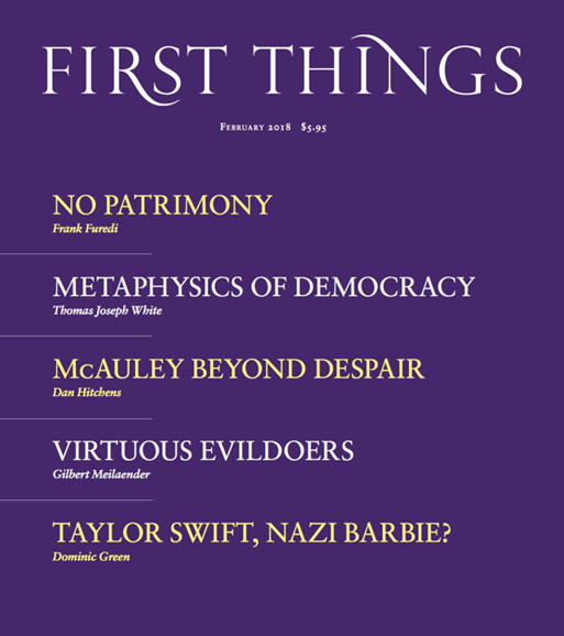 First Things Cover - 2/1/2018