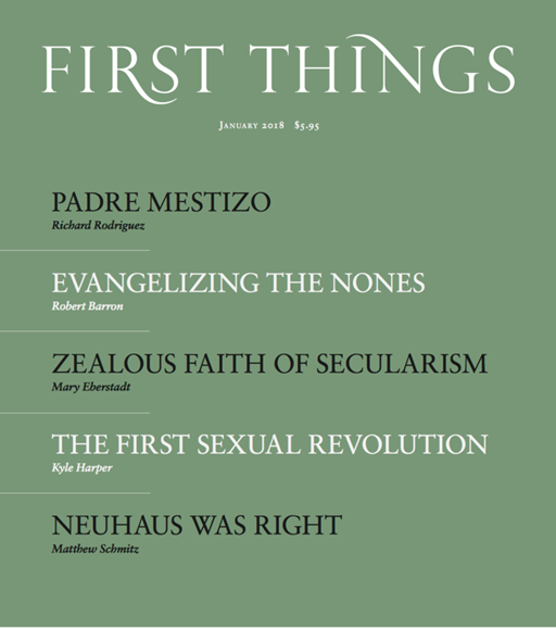 First Things Cover - 1/1/2018