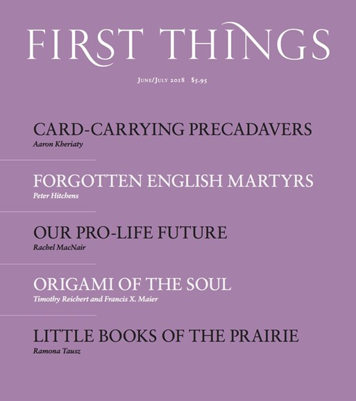 First Things Cover - 6/1/2018