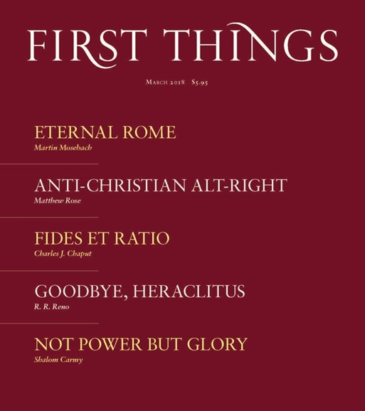 First Things Cover - 3/1/2018