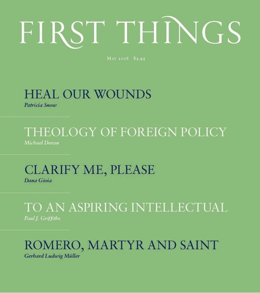 First Things Cover - 5/1/2018