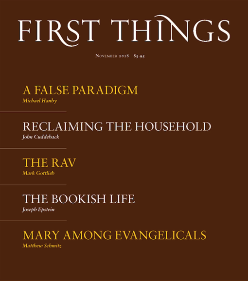 First Things Cover - 11/1/2018
