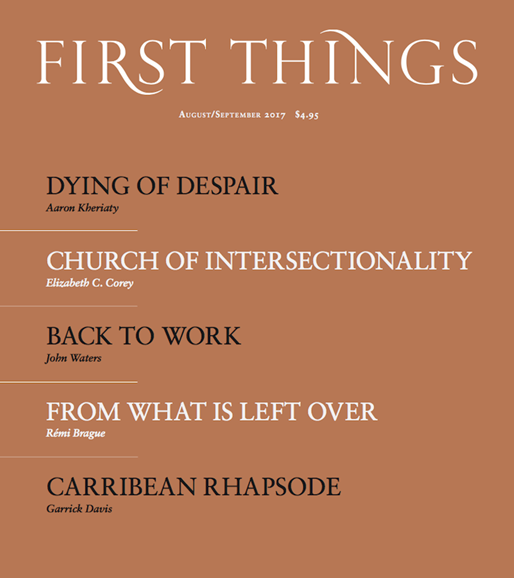 First Things Cover - 8/1/2017