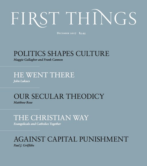 First Things Cover - 12/1/2017
