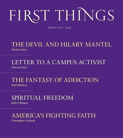 First Things Cover - 2/1/2017