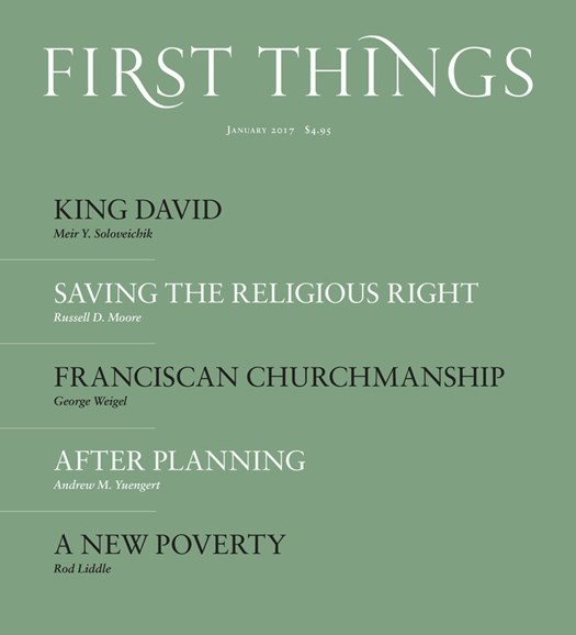 First Things Cover - 1/1/2017