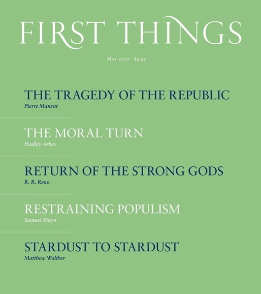 First Things Cover - 5/1/2017