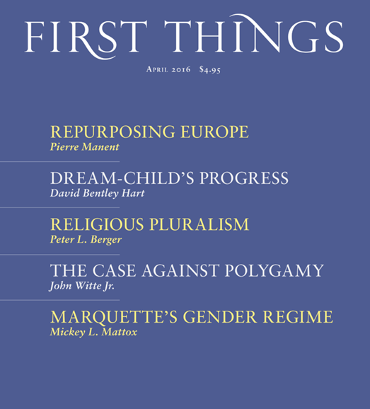 First Things Cover - 4/1/2016