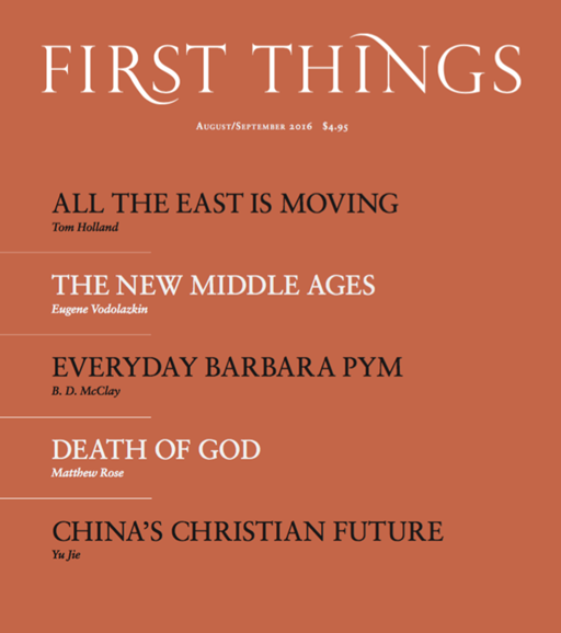 First Things Cover - 8/1/2016