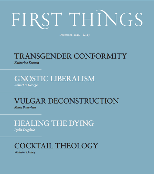 First Things Cover - 12/1/2016