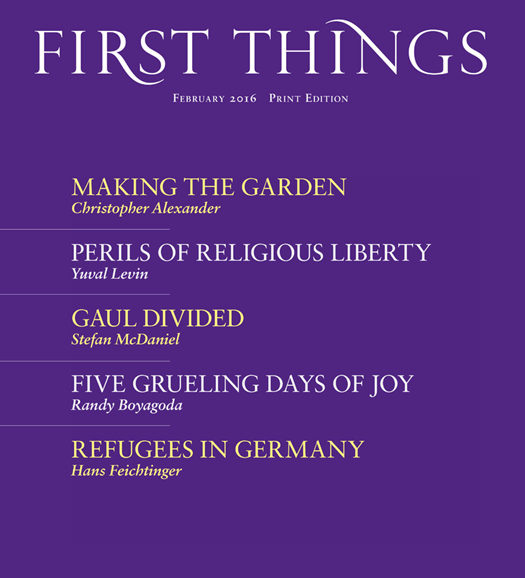 First Things Cover - 2/1/2016