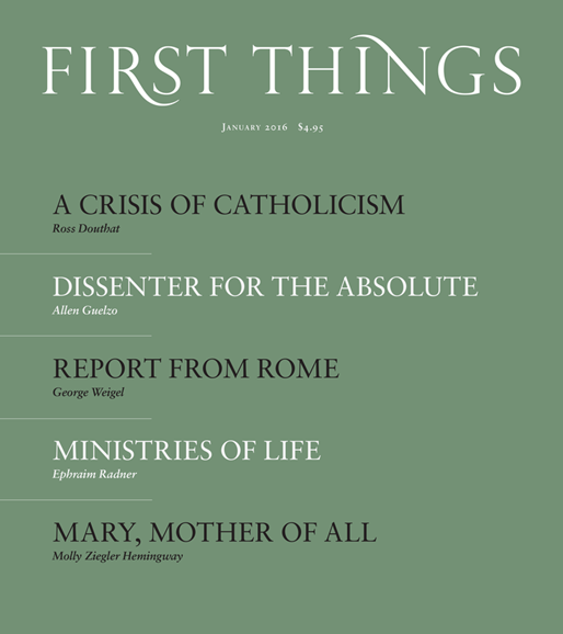 First Things Cover - 1/1/2016