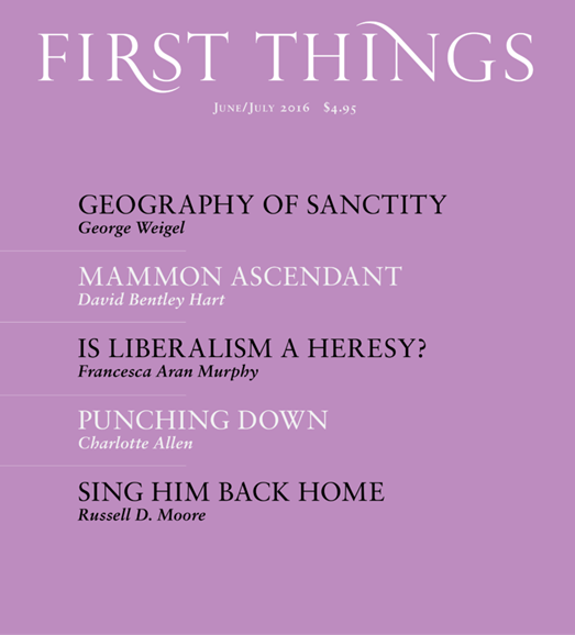First Things Cover - 6/1/2016