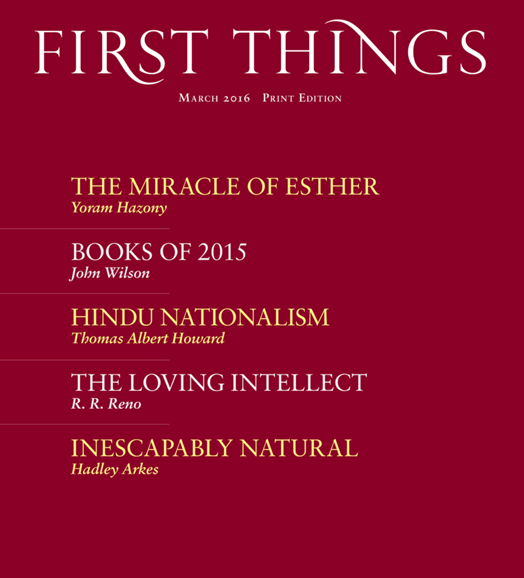 First Things Cover - 3/1/2016