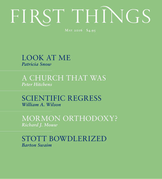 First Things Cover - 5/1/2016
