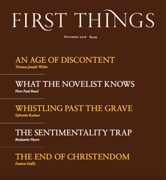 First Things Cover - 11/1/2016