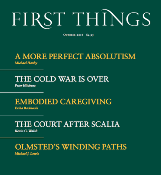 First Things Cover - 10/1/2016
