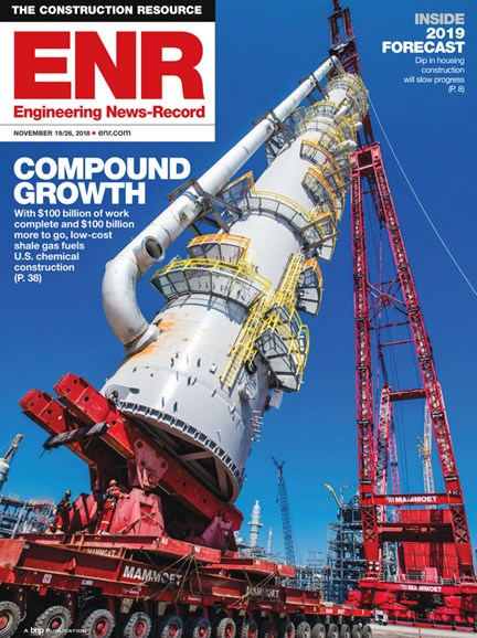 Engineering News Record Cover - 11/19/2018