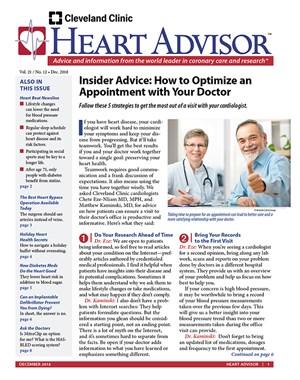 Heart Advisor Newsletter | 12/2018 Cover