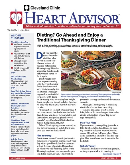 Heart Advisor Cover - 11/1/2018