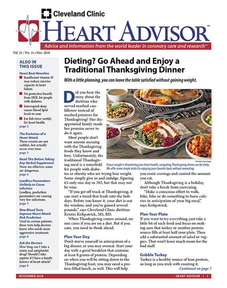 Heart Advisor Cover - 11/1/2018