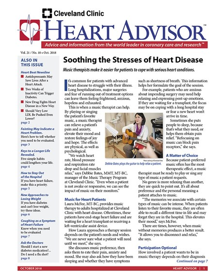 Heart Advisor Cover - 10/1/2018