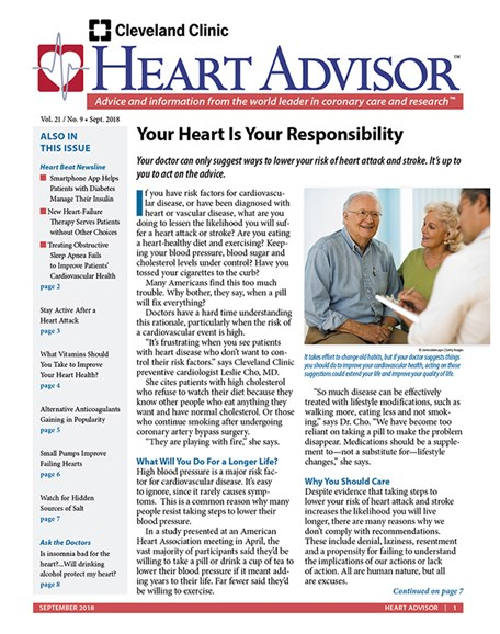 Heart Advisor Cover - 9/1/2018