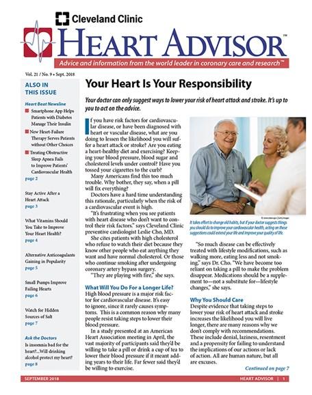 Heart Advisor Cover - 9/1/2018