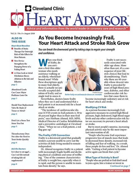 Heart Advisor Cover - 8/1/2018