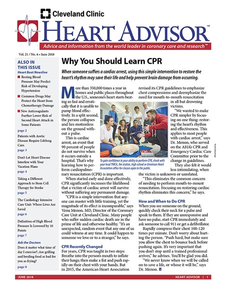 Heart Advisor Cover - 6/1/2018