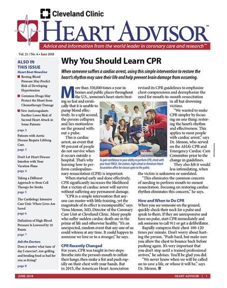 Heart Advisor Cover - 6/1/2018