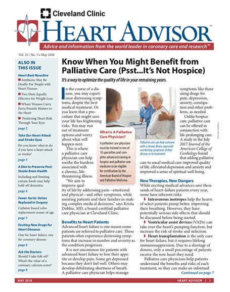 Heart Advisor Cover - 5/1/2018