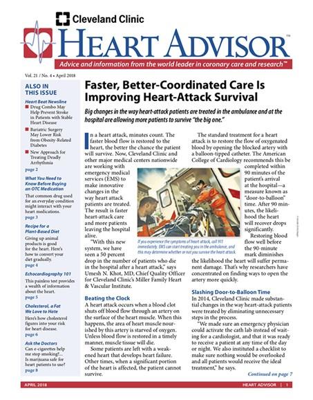 Heart Advisor Cover - 4/1/2018