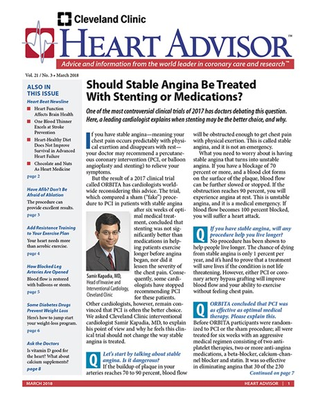 Heart Advisor Cover - 3/1/2018