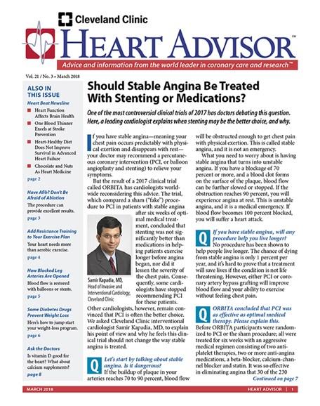 Heart Advisor Cover - 3/1/2018