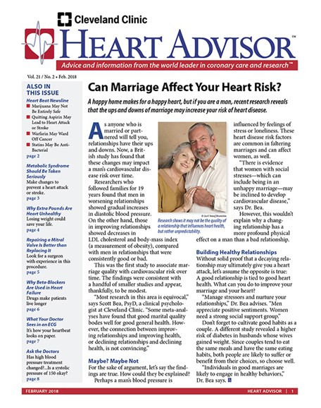 Heart Advisor Cover - 2/1/2018