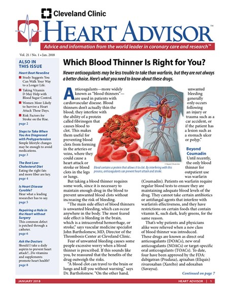 Heart Advisor Cover - 1/1/2018
