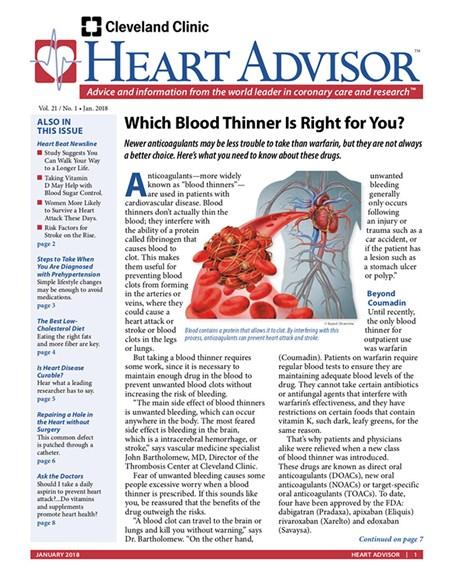 Heart Advisor Cover - 1/1/2018
