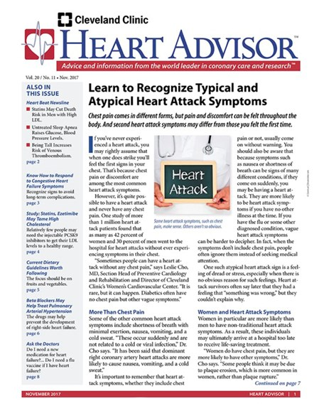 Heart Advisor Cover - 11/1/2017