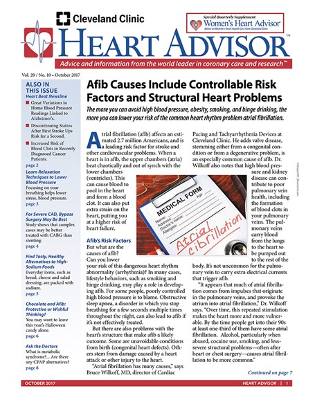 Heart Advisor Cover - 10/1/2017